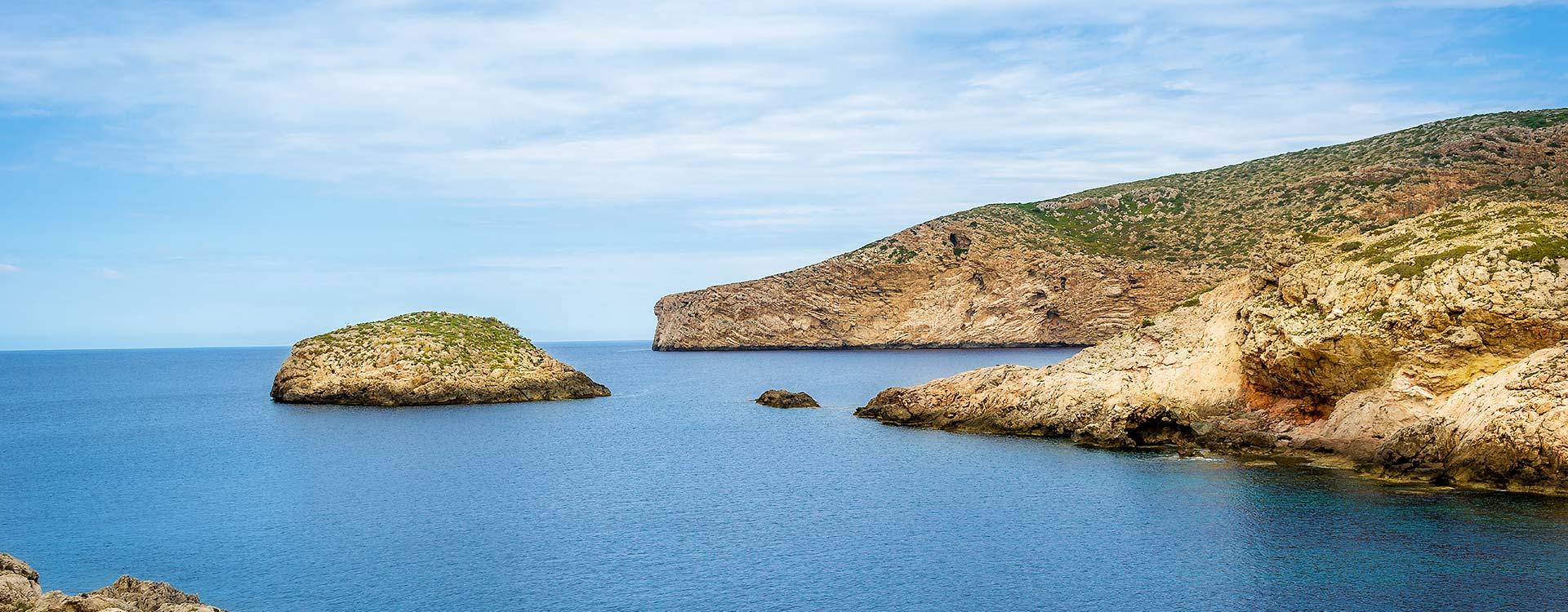 Vista de algunas islas que forman el archipiélago de Cabrera