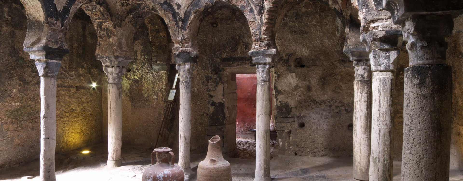 Sala de baños calientes de los baños árabes de Mallorca
