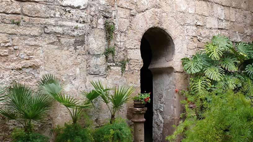 Fachada exterior de los baños árabes de Mallorca